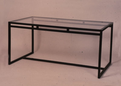 Armed Glass Table