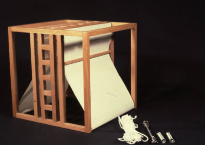 Cube Lamp with Tensors. 1983