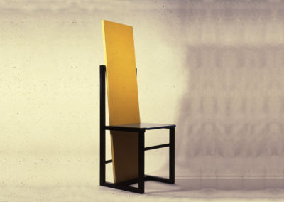 Chair of Homage to Rietveld. 1982