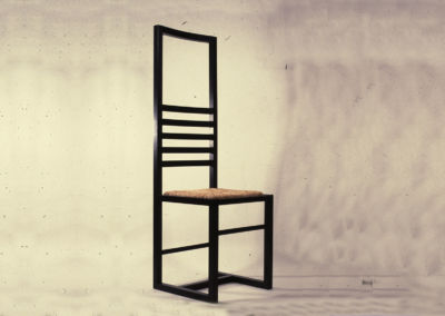 Five bars black Chair. 1978