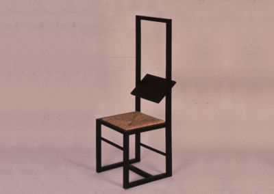 Black Chair with Swivel Backrest. 1972
