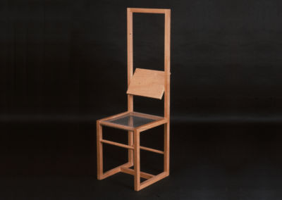 Chair with Mobile Backrest. 1982